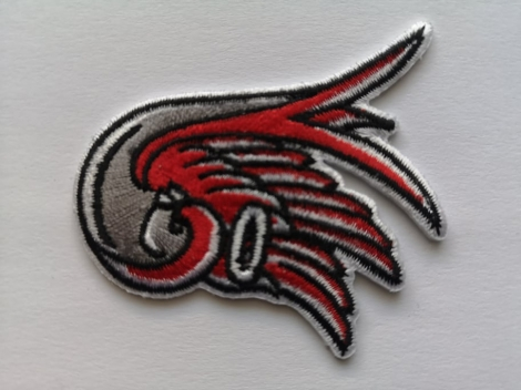 Krídlo - Červeno biela nášivka