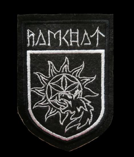 Ramchat 04 (veľká) - Biely znak na čiernom podklade