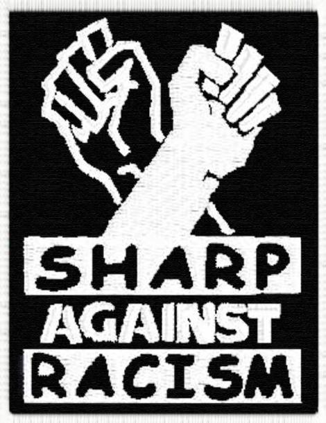 SHARP AGAINST RACISM - Čierna a biela vlajka