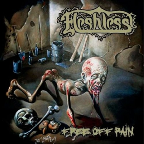 Fleshless - Free of Pain / Stench of Rotting Heads (CD)